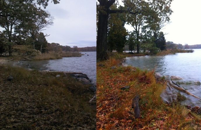 High water before and during Super Storm Sandy at Bayfields on the West River