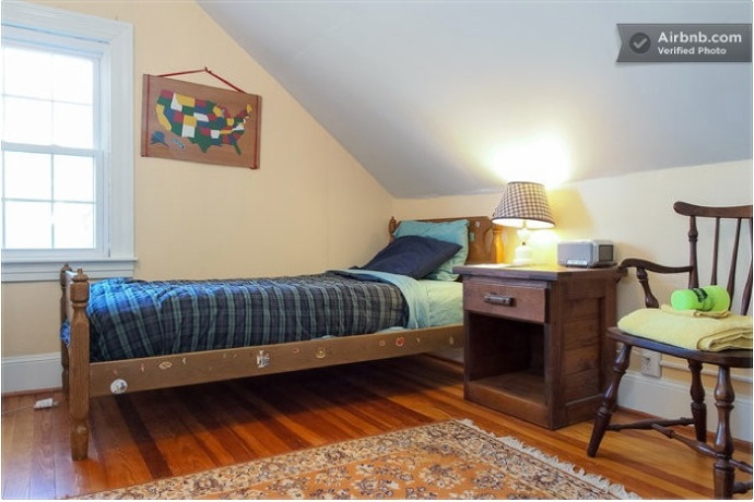 Hansel-n-Gretel sleeps 2 with two bunk beds, 3rd floor with 2nd floor shared bath